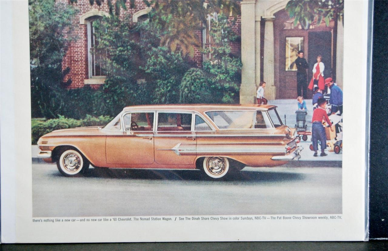 Car Ad Vintage Automobile Auto SEP 1960 Chevrolet Nomad Station ...