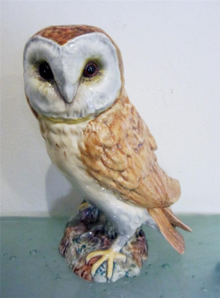 Beswick England Pottery Barn Owl Figurine Split Tail Large
