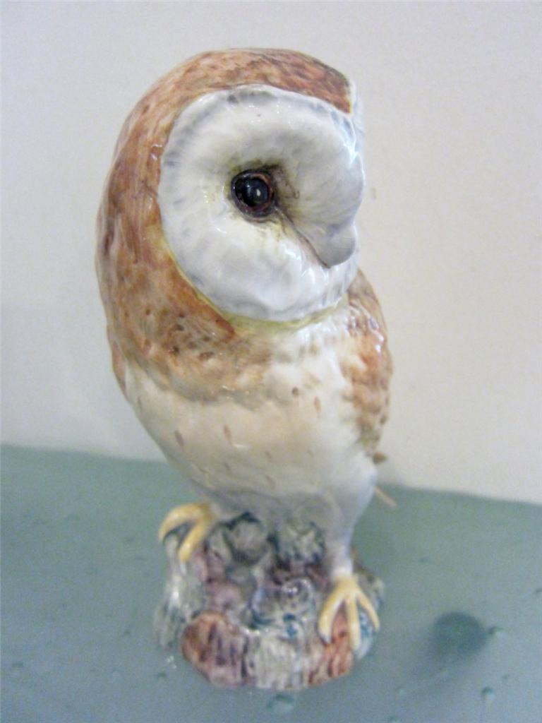 Beswick England Pottery Barn Owl Figurine Split Tail Large