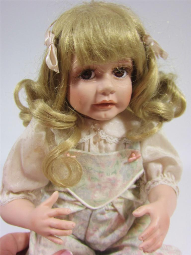 Porcelain Baby Doll + Puppy Dog Jennifer 1990 Jane ...