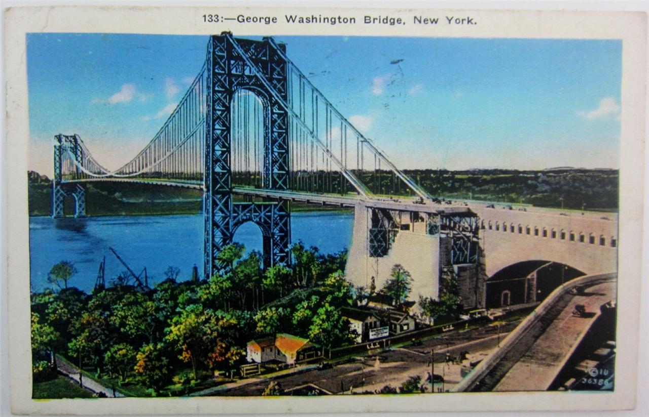 Postcard Antique New York City 1936 George Washington Bridge Used ...