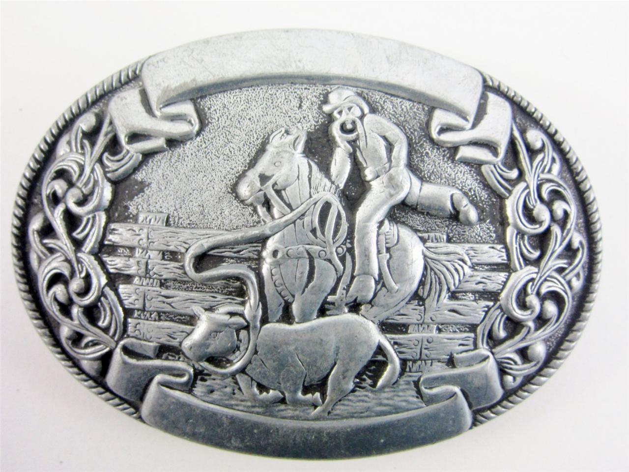 Vintage rodeo trophy buckles