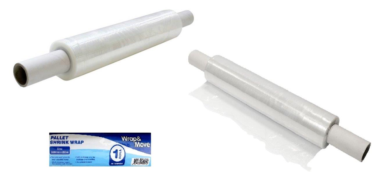 Pallet Shrink Wrap Roll With Application Handles Plastic
