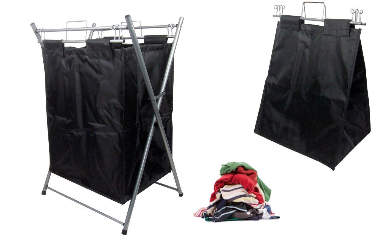 Laundry Hamper Carry Bag Sorter Foldable Large Bin Tote