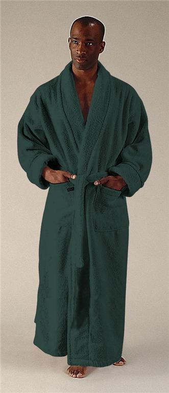 new mens full length long terry cotton bathrobe robe ebay. Black Bedroom Furniture Sets. Home Design Ideas