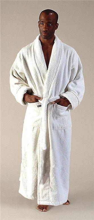 New Mens Full Length Long Terry Cotton Bathrobe Robe Ebay
