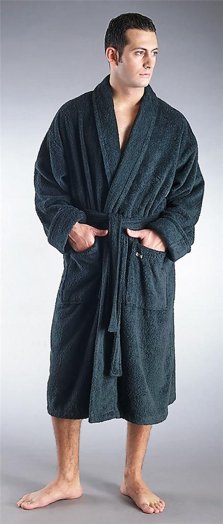 mens turkish terry cotton cloth classic bathrobe ebay. Black Bedroom Furniture Sets. Home Design Ideas