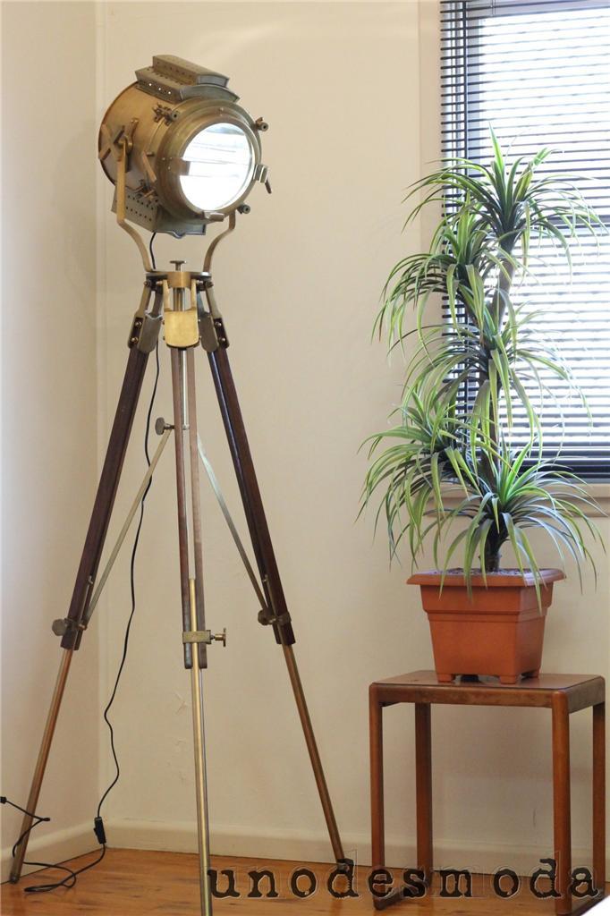 Big Nautical Brass Signal Tripod Floor Lamp Rustic Search