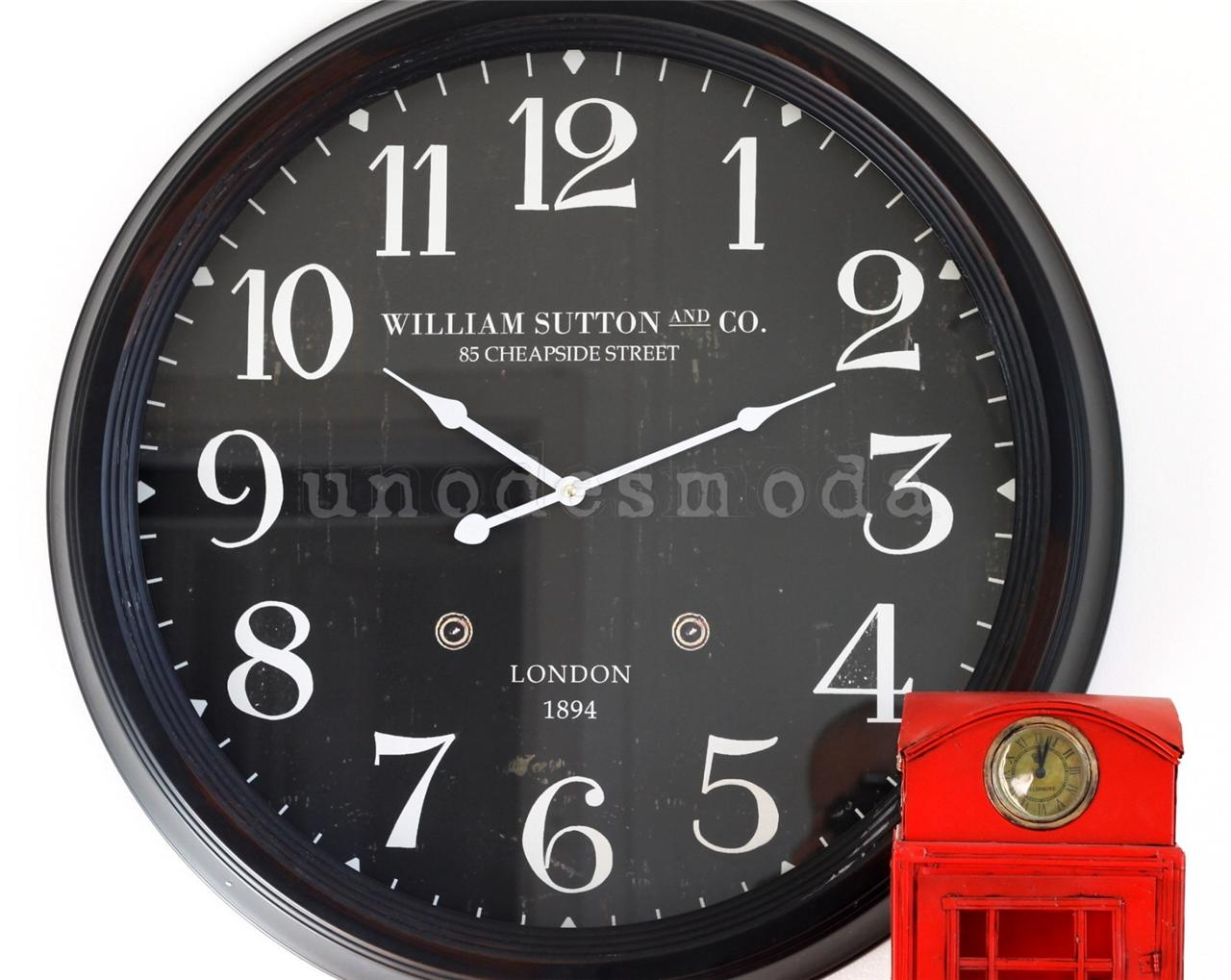 Wall Clock Large Classic William Sutton Amp Co Design London