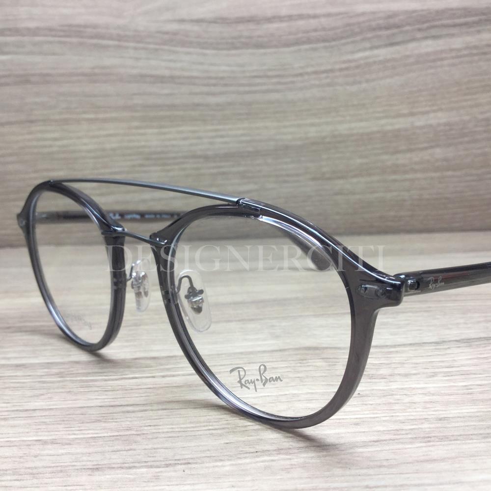 b6e20fd81a Ray Ban LightRay RB 7111 RB7111 Eyeglasses Smoke Grey 5620 Authentic 49mm