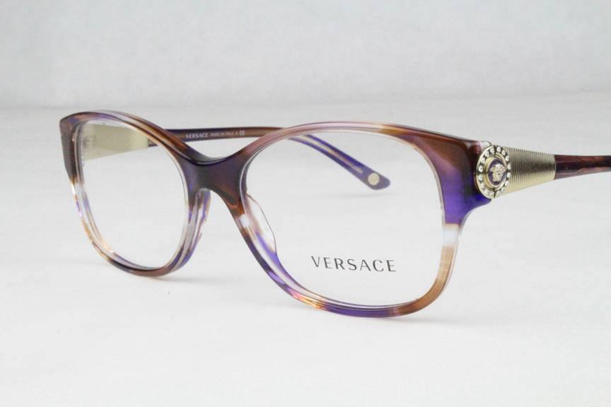 New Versace 3168 B Eyeglasses Frames Transparent Purple