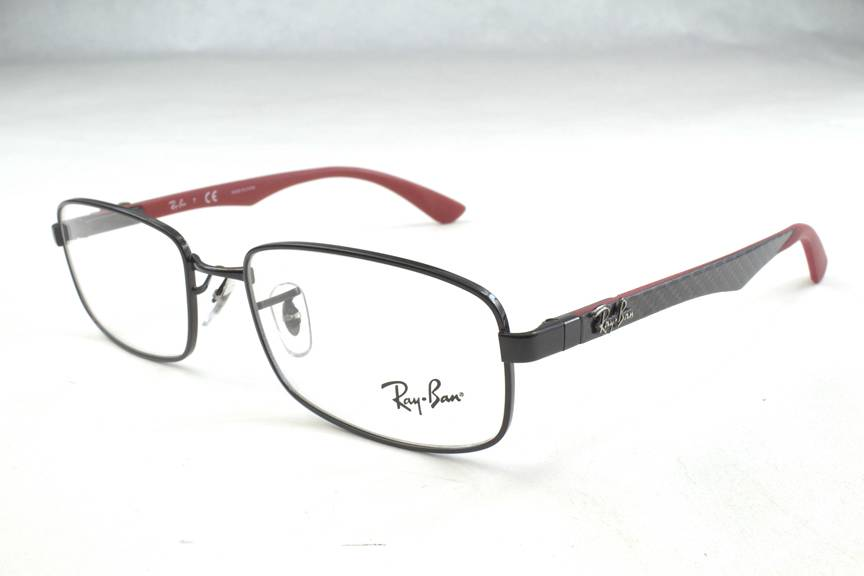 e41e5d8ace6 New Ray Ban RB8410 RB 8410 Eyeglasses Frames Black Carbon Fiber 2509 52mm