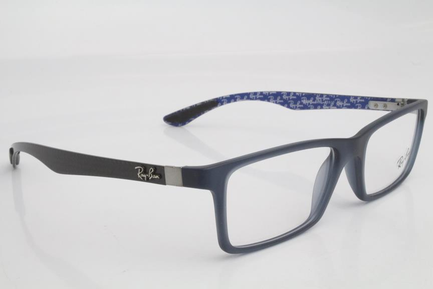 b8ad603822 New Ray Ban RB8901 RB 8901 Eyeglasses Frames Blue Carbon Fiber 5262 53mm