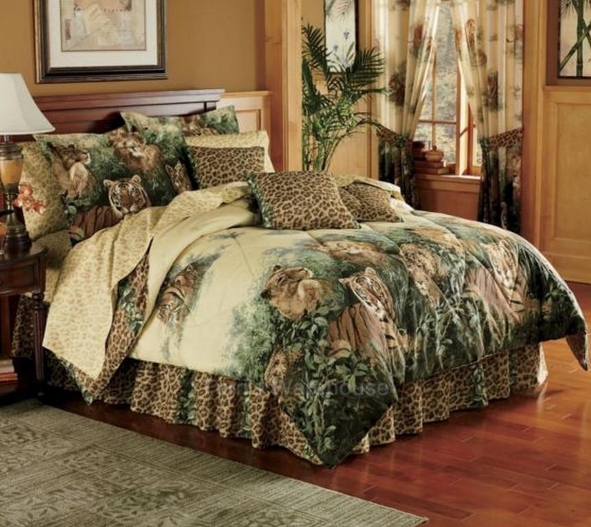Wild Cat Lions Tiger Comforter Set Twin Full Queen King Ebay