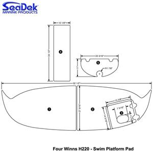 Seadek Swim Platform Pads For Four Winns Models Choose