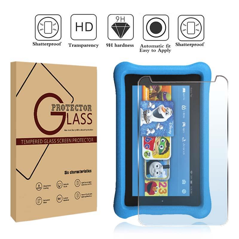 "Tempered Glass Screen Protector For Amazon Kindle Fire Kids Edition 7/"" 2017"
