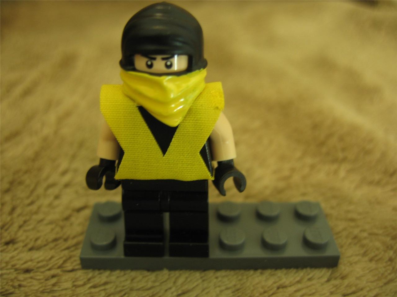 Lego Minifig- MK Mortal Kombat Scorpion -Custom Minifigure ...  Lego Minifig- M...