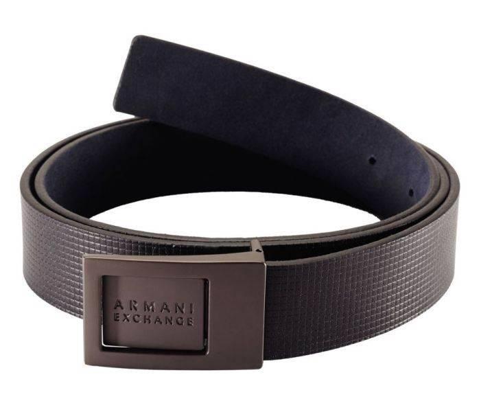 New Armani Exchange AX Mens Reversible Plaque Belt   eBay