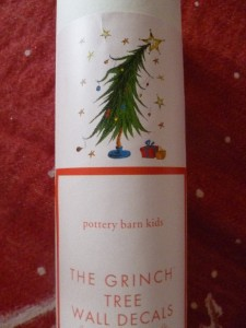 Pottery Barn Kids Grinch Tree Holiday Christmas Decal New