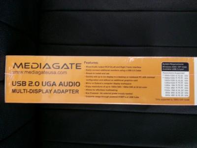 Mediagate USB 2 0 UGA Audio Multi Display Adapter DVI VGA HDMI Supports MGUGA02