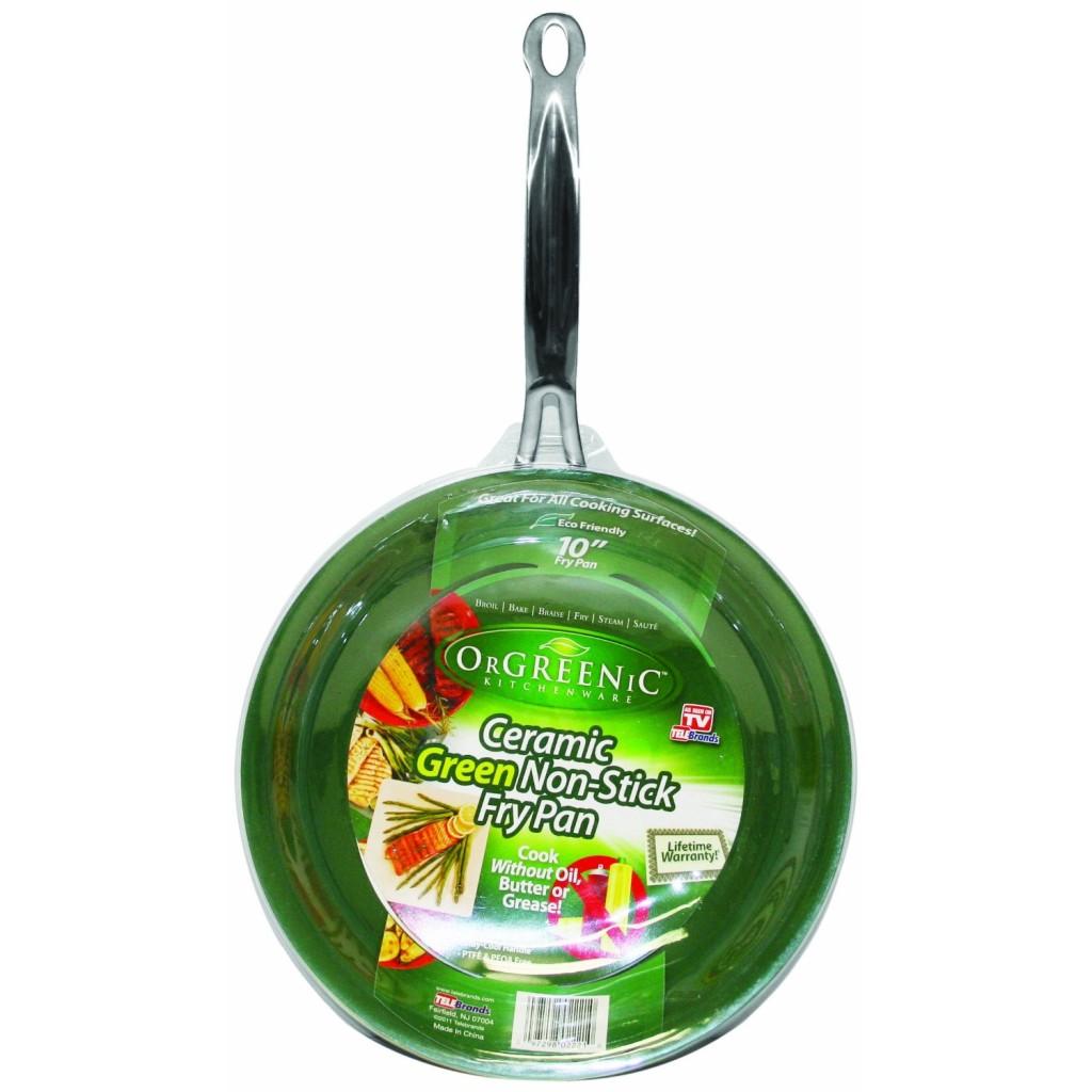 Orgreenic Frying Pan Eco Organic Safe Non Stick Green