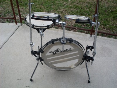 rims headset portable drum set kit ebay. Black Bedroom Furniture Sets. Home Design Ideas