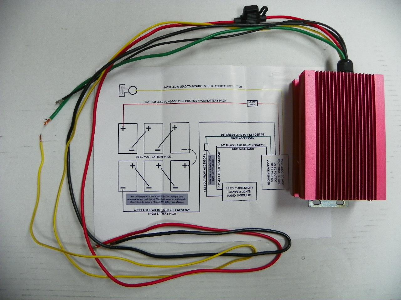 48 Volt Wiring Diagram Reducer Free For You Club Car Golf Cart 36 20 Amp Voltage Converter Troubleshooting Ezgo
