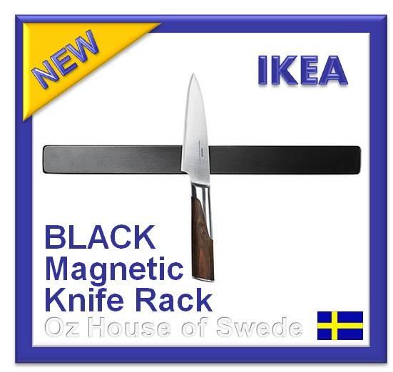 ikea fintorp magnetic knife rack tools holder storage 38cm black ebay. Black Bedroom Furniture Sets. Home Design Ideas