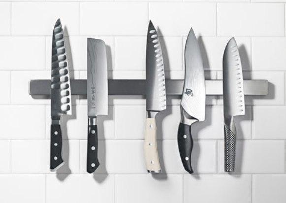 ikea grundtal 16 magnetic knife rack stainless steel storage tools holder 40cm ebay. Black Bedroom Furniture Sets. Home Design Ideas