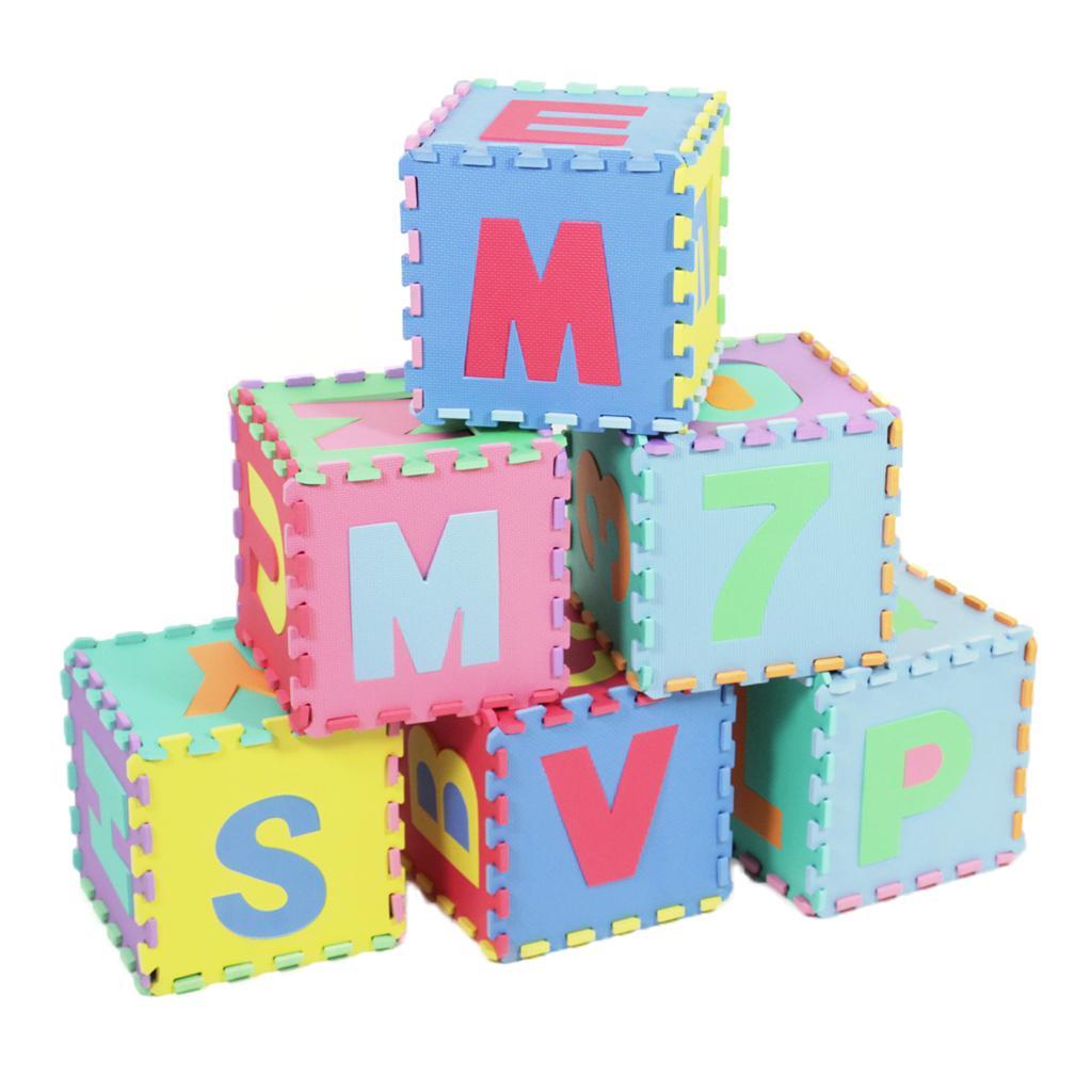 new prosource 36 tiles interlocking learning puzzle foam mat for kids children ebay. Black Bedroom Furniture Sets. Home Design Ideas