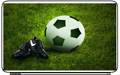 Soccer Ball Laptop Netbook Skin Cover Sticker Decals