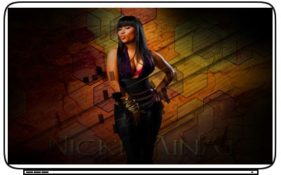 Rap Idol Nicki Minaj Pop Actress Singer Laptop Netbook Skin Cover