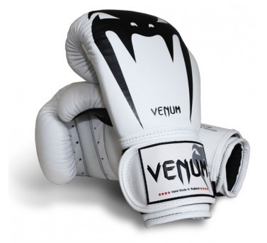 VENUM GIANT BOXING MMA SPARRING GLOVES WHITE SIZES: 10, 12 ...