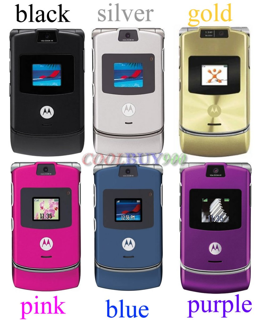 new motorola v3 unlocked razr gsm cell phone 6 colors ebay. Black Bedroom Furniture Sets. Home Design Ideas