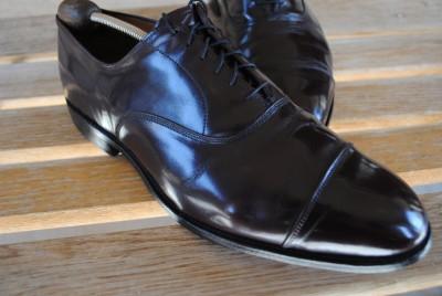 mens ALLEN EDMONDS Park Avenue cordovan cap toe dress shoes sz 11 EEE