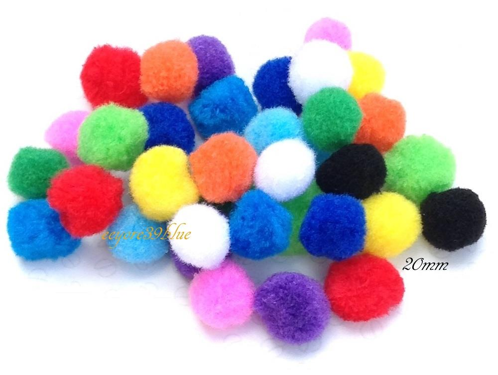 pom poms mini craft various mix colours sizes 6mm 8mm. Black Bedroom Furniture Sets. Home Design Ideas