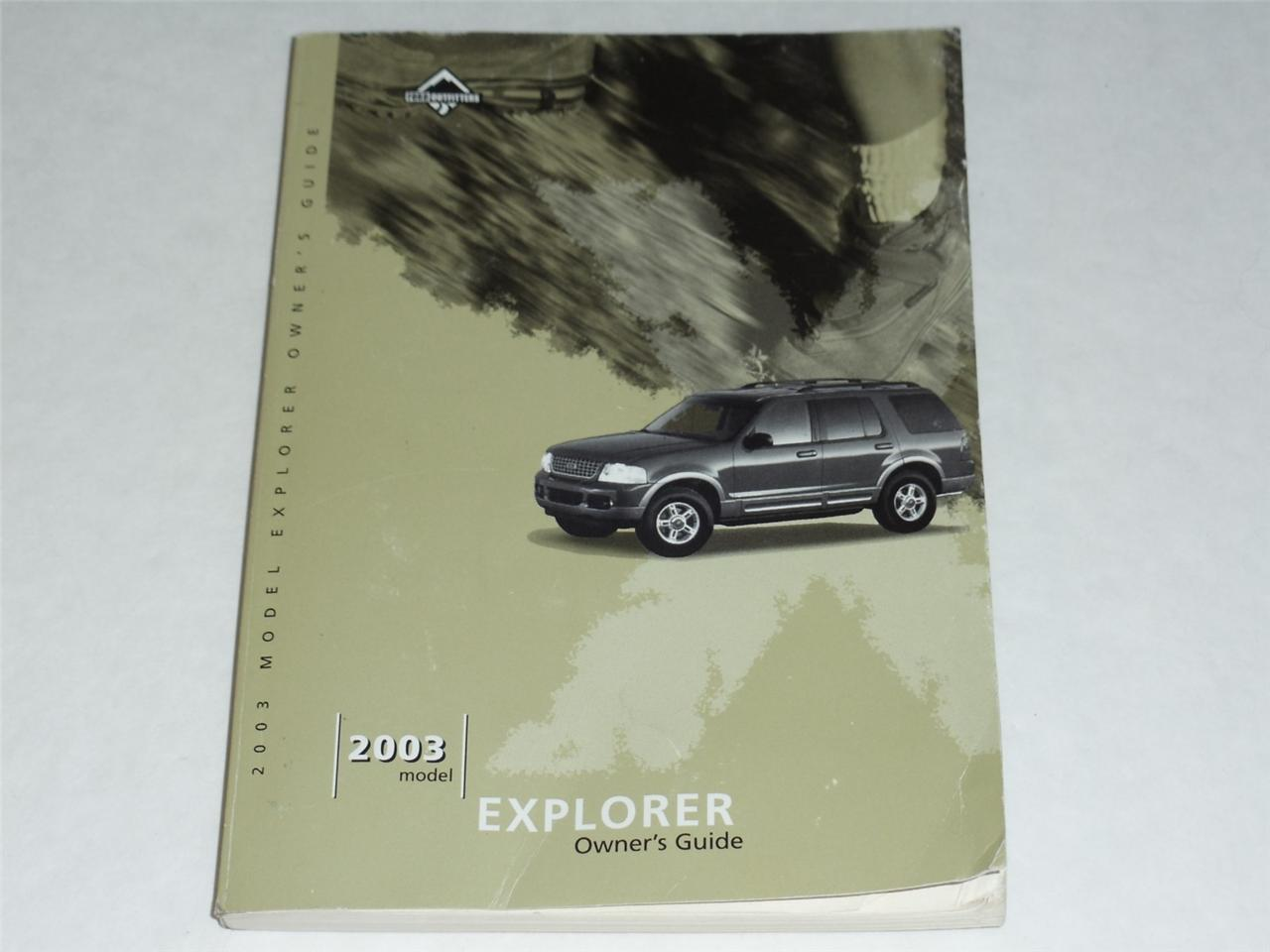 ford explorer owners manual book ebay