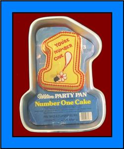 number cake pans wilton number one 1979 cake pan with insert ebay 6210