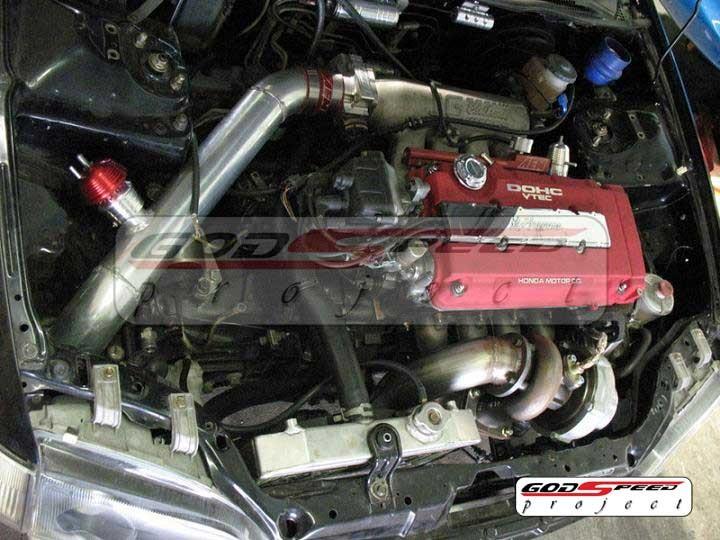 Civic Integra B16 B18 T3t4 Gt35 Top Mount Turbo Kit Ebay
