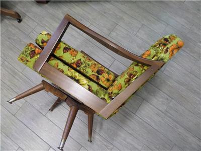 Magnificent Details About Vintage Mcm Mid Century Paoli Swivel Rocking Chair Teak Danish Machost Co Dining Chair Design Ideas Machostcouk
