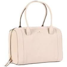 NWT Kate Spade Mansfield Liv Leather Handbag Cream Purse Satchel R$425