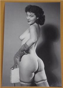 723803461_tp Pinup Model Rearview 4x6 Photo Vintage Print U50