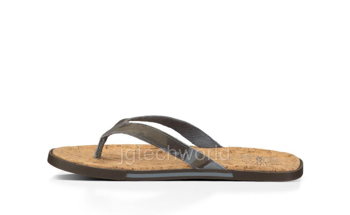 new men ugg sandals flip flop shoes slip on slipper bennison camo 7 8 9 10 11 12 ebay. Black Bedroom Furniture Sets. Home Design Ideas