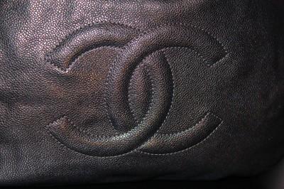2010 NIB CHANEL X LARGE BLACK TOTE HOBO PURSE CLASSIC CAVIAR SILVER