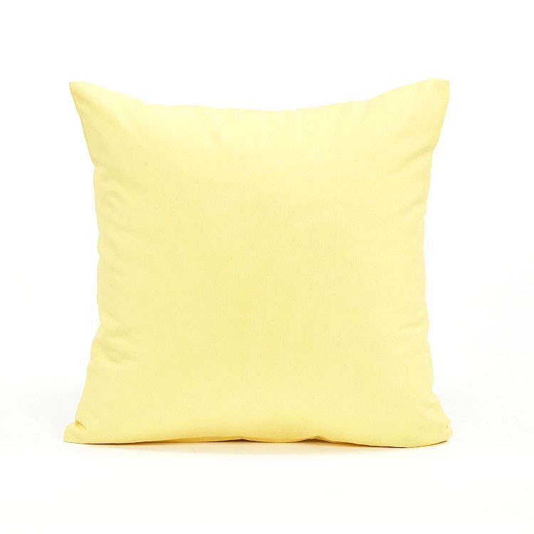 20 x 20 solid pastel yellow accent throw pillow cover ebay. Black Bedroom Furniture Sets. Home Design Ideas