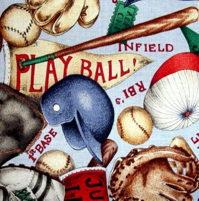 34 5 Quot Baseball Theme Cotton Quilt Fabric Squares Kit Ebay
