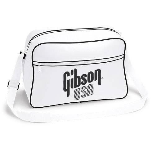 retro shoulder bag with gibson usa logo les paul 335 dove guitar sg flight ebay. Black Bedroom Furniture Sets. Home Design Ideas