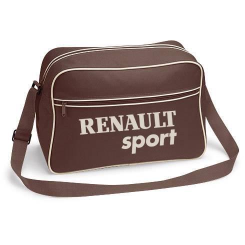 retro shoulder bag with renault sport logo megane clio 182 laguna 16v flight ebay. Black Bedroom Furniture Sets. Home Design Ideas