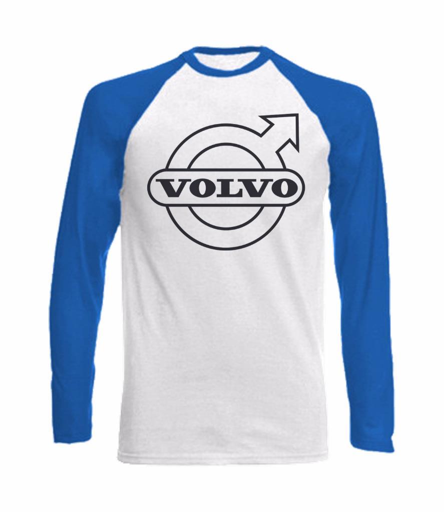 long sleeve baseball t shirt with volvo logo truck car. Black Bedroom Furniture Sets. Home Design Ideas