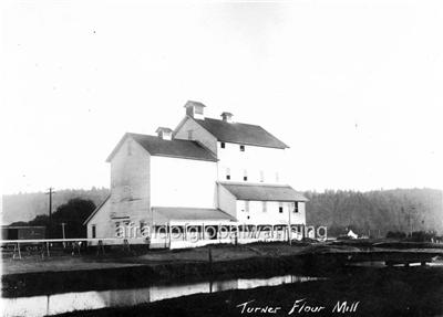 Old Photo Turner Oregon View Flour Mill Ebay